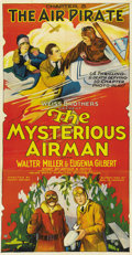 "Movie Posters:Serial, The Mysterious Airman (Weiss Brothers Artclass Pictures, 1928).Three Sheet (41"" X 81"") Chapter 5 -- ""The Air Pirate.""..."