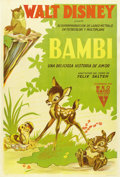 "Movie Posters:Animated, Bambi (RKO, 1942). Argentinean Poster (29"" X 43"")...."