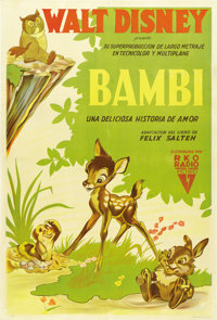 """Bambi (RKO, 1942). Argentinean Poster (29"""" X 43"""")"""