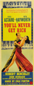 "Movie Posters:Musical, You'll Never Get Rich (Columbia, 1941). Insert (14"" X 36"")...."