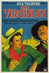 """The Virginian (Paramount, 1929). One Sheet (27"""" X 41"""") Style A, Sound Version"""