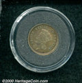 1859 PG$1 Gold Dollar Judd-256, Pollock-7010, R.6, PR 60 Brown, Bent. The obverse is similar to that used on the regular...