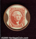 Encased Postage: , Luther Whitt--Stamps, Coins--10 cents. XF. One of the lookalike...