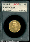 Additional Certified Coins: , 1856-S $3
