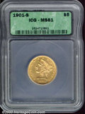 Additional Certified Coins: , 1901-S $5