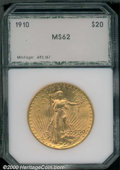 Additional Certified Coins: , 1910 $20