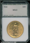 Additional Certified Coins: , 1922 $20