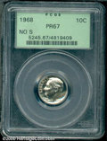 Proof Roosevelt Dimes: , 1968 10C NO S