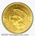 Three Dollar Gold Pieces: , 1858 $3
