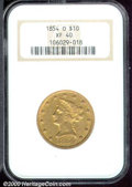 Liberty Eagles: , 1854-O $10 LG DATE
