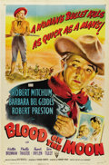 "Movie Posters:Western, Blood on the Moon (RKO, 1948). One Sheet (27"" X 41"")...."