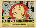 "Movie Posters:Comedy, Gentlemen Prefer Blondes (Paramount, 1928). Title Card and LobbyCards (3) (11"" X 14"").... (Total: 4 Items)"