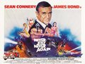 "Movie Posters:James Bond, Never Say Never Again (Warner Brothers, 1983). British Quad (30"" X40"")...."