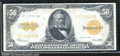 Large Size Gold Certificates:Large Size, 1922 $50 Gold Certificate, Fr-1200, VF. A crispy example with n...