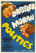 "Movie Posters:Comedy, Politics (MGM, 1931). Australian One Sheet (27"" X 40"")...."