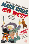 "Movie Posters:Comedy, Go West (MGM, 1940). One Sheet (27"" X 41"")...."