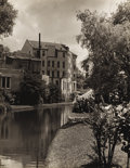 Paintings, A. L. DEGROODT (1910-1980). Untitled San Antonio Riverwalk. Black and white photo. 10in. x 8in.. Unsigned. Provenance:. Es...