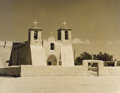 Texas:Early Texas Art - Drawings & Prints, A. L. DEGROODT (1910-1980). Untitled Ranchos de Taos Church. Sepiatone photo. 8in. x 10in.. Unsigned. Provenance:. Estate...