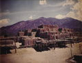 Texas:Early Texas Art - Regionalists, A. L. DEGROODT (1910-1980). Untitled Taos Pueblo. Color photo. 71/2in. x 9 1/2in.. Unsigned. Provenance:. Estate of A.L. ...