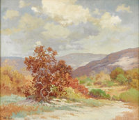 ROBERT WOOD (1889-1979) Untitled Hill Country Autumn, early to mid 1930s Oil on canvas 24in. x 28in. Signed lower left...