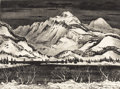 Texas:Early Texas Art - Drawings & Prints, ADOLF DEHN (1895-1968). A Lake in the Mountains. Lithograph.10in. x 13in.. Signed lower right. Adolph Dehn was a mast...
