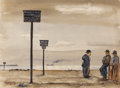 Texas:Early Texas Art - Regionalists, LLOYD GOFF (1908-1982). Coney Island, late 1930s to early1940s. Watercolor. 12in. x 16in.. Signed lower left. Titled ve...