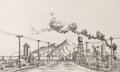 Texas:Early Texas Art - Drawings & Prints, LLOYD GOFF (1908-1982). Lordsburg, NM, 1940. Etching. Signedlower right. Signed and titled lower left. Lloyd Goff is ...