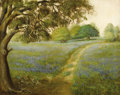 Texas:Early Texas Art - Impressionists, F. A. CLOONAN (1865-1950). Untitled Bluebonnet Landscape. Oil oncanvas. 22in. x 28in.. Signed lower right. Cloonan was bo...