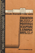 Texas:Early Texas Art - Drawings & Prints, Dallas Museum of Fine Art - Texas Centennial Exposition,1936. Book - spiral bound. 8 1/2in. x 6in.. Two exhibitionsstand...