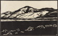 Texas:Early Texas Art - Drawings & Prints, FRANK REDLINGER (1909-1936). Untitled, 1930s. Block print. 7 3/4in.x 12in.. Signed in plate lower right. The preparatory ... (Total: 2Item)