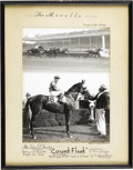 Miscellaneous Collectibles:General, 1942-43 Johnny Longden Count Fleet Winner's Circle Photographs Lotof 4. Issued only to jockeys and owners, winner's circle... (Total:6 )