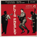 """Music Memorabilia:Recordings, Elvis Presley EP Group of 4 (RCA 1956-58). This EP grouping will rock you! From 1956, it's """"Elvis Presley"""" (RCA 830, 1956) i..."""
