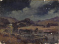 Texas:Early Texas Art - Impressionists, W. FREDERICK JARVIS (1898-1966). Baltimore Night on HuntersParadise. Oil on canvas. 9in. x 12in.. Signed lower left. Ti...