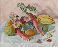 CLINTON KING (1901-1979) Untitled Still Life, 1930s Oil on linen 16in. x 20in. Signed lower right  While largely forgo...