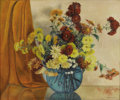 Texas:Early Texas Art - Regionalists, MARY EDWARDS (1871-1951). Chrysanthemums, 1940s. Oil oncanvas. 25in. x 30in.. Signed and titled verso. This painting ...