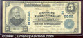 National Bank Notes:Maryland, Garrett National Bank of Oakland, MD, Charter #6588. 1902 $5 Th...