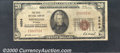 National Bank Notes:Wyoming, First National Bank of Sheridan, WY, Charter #4604. 1929 $20 Ty...