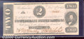 Confederate Notes:1862 Issues, 1862 $2 Judah P. Benjamin, T-54, AU. This example shows slight ...