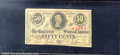 Confederate Notes:1863 Issues, 1863 50 Cents Bust of Jefferson Davis, T-63, XF. An attractive ...