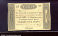 Obsoletes By State:Ohio, 1819 25 cents Worthington, OH, Fine. You may bid on this lot us...