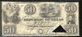 Miscellaneous:Republic of Texas Notes, 1839 $50 Republic of Texas, Fine. Cr-A7, Medlar-Austin-27. This...
