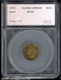 Proof Indian Cents: , 1873 1C, BN