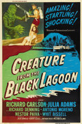 "Movie Posters:Horror, Creature From the Black Lagoon (Universal International, 1954).Poster (40"" X 60"")...."