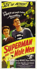 "Movie Posters:Action, Superman and the Mole Men (Lippert, 1951). Three Sheet (41"" X81"")...."