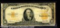 Large Size Gold Certificates:Large Size, 1922 $10 Gold Certificate, Fr-1173, Good-VG. This note is heavi...