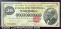 Large Size Gold Certificates:Large Size, 1882 $20 Gold Certificate, Fr-1178, Fine-VF. This note is an ex...