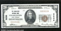 National Bank Notes:West Virginia, Charleston National Bank, WV, Charter #3236. 1929 $20 Type One,...
