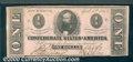 Confederate Notes:1863 Issues, 1863 $1 Clement C. Clay, T-62, AU. Two light vertical bends and...