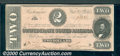 Confederate Notes:1864 Issues, 1864 $2 Judah P. Benjamin, T-70, Choice AU. This note has treme...