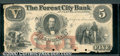 Obsoletes By State:Ohio, $5 Forest City Bank, Cleveland, OH, VF. A crisp proof note with...